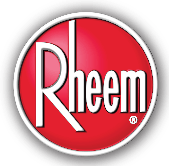 "alt=""picture of a Rheem water heater logo, which last a long time, but sometimes needs attention from the pros at TNT Heating and Cooling, serving the water heater repair needs of Brighton MI since 2017"""